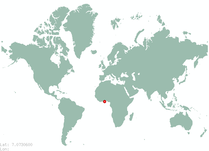 Davao in world map
